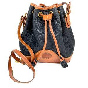 Vintage Dooney Burke Cross Body Bucket Bag